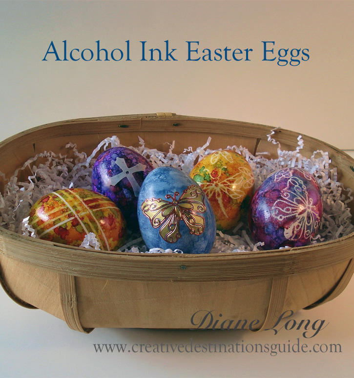 Alcohol Ink Easter Eggs Image