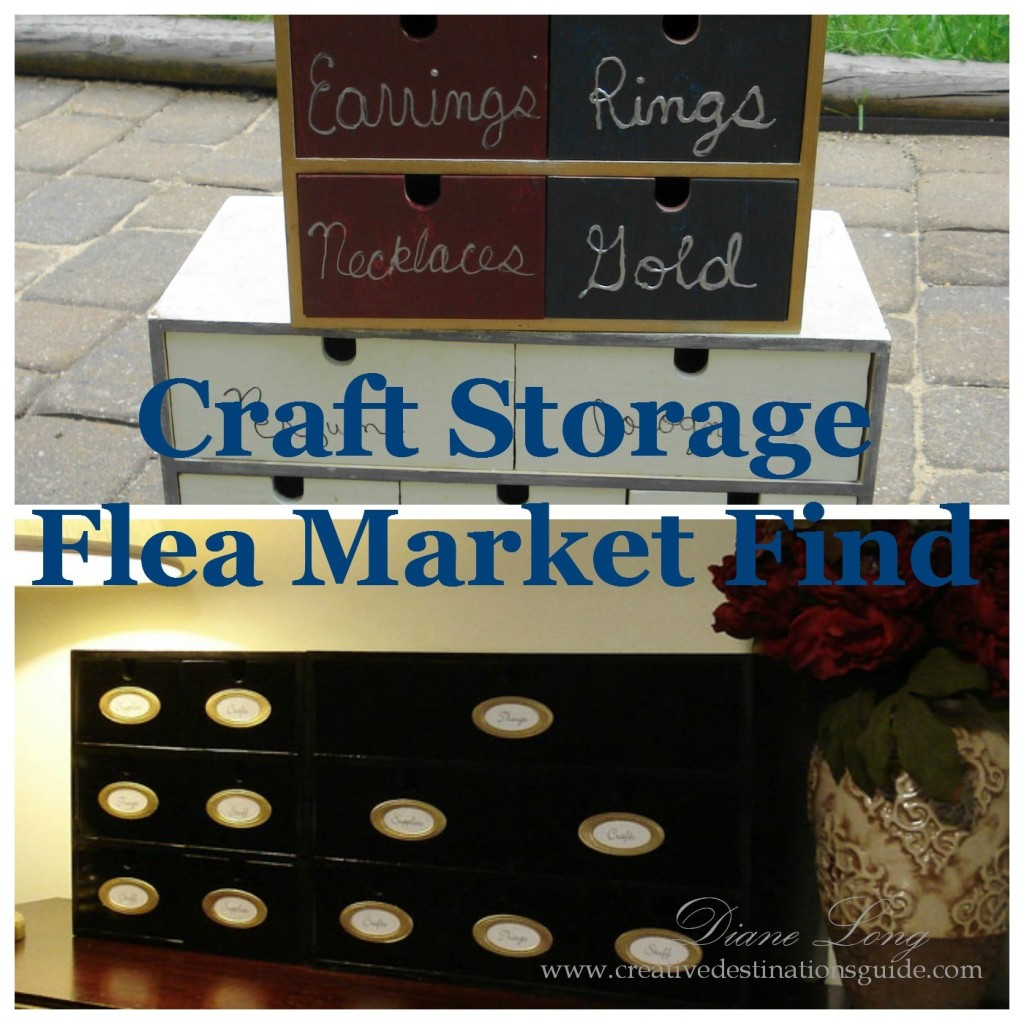 Craft Storage Flea Market Find Image