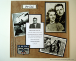 Our Dad Scrapbook Layout image