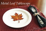 Metal Fall Leaf Tablescape
