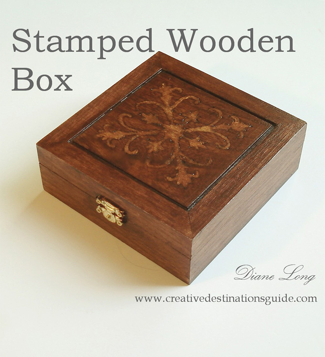 Stamped Wooden Box image