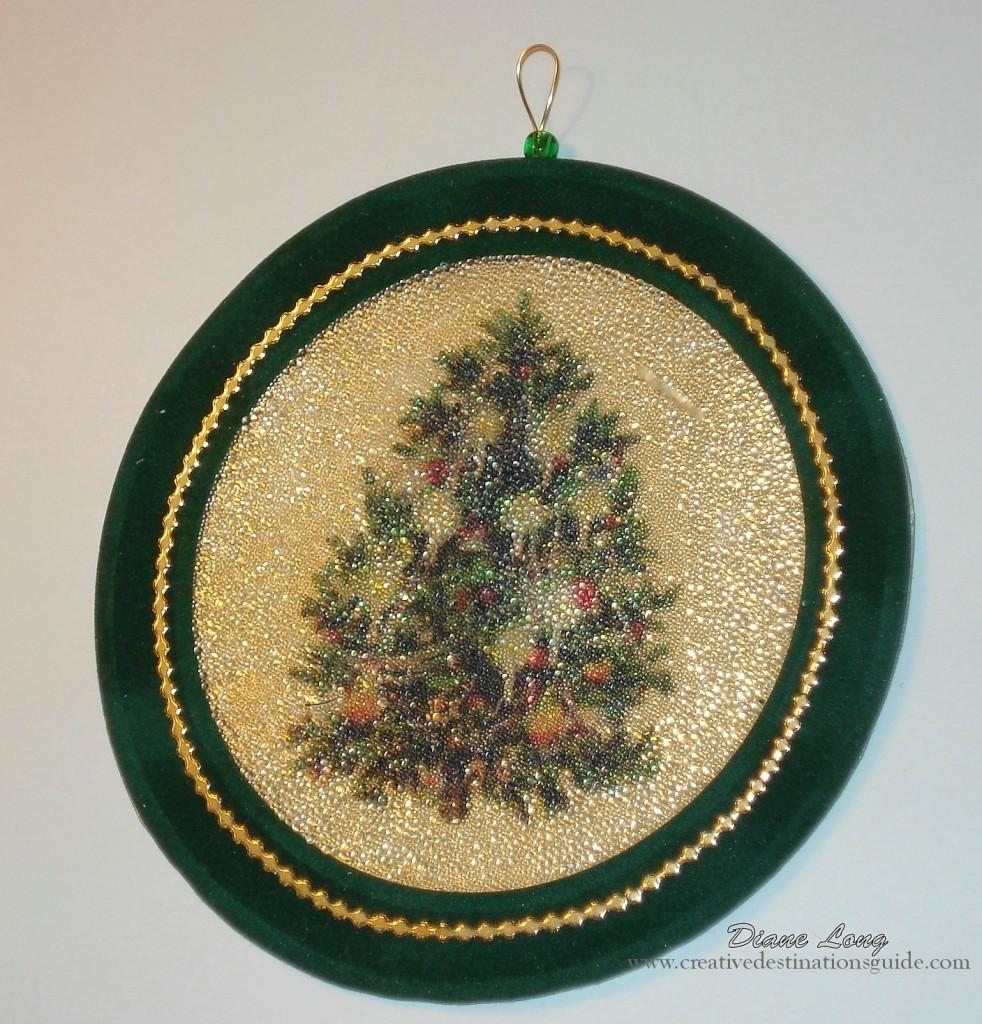 Beaded Clip art Christmas Ornament