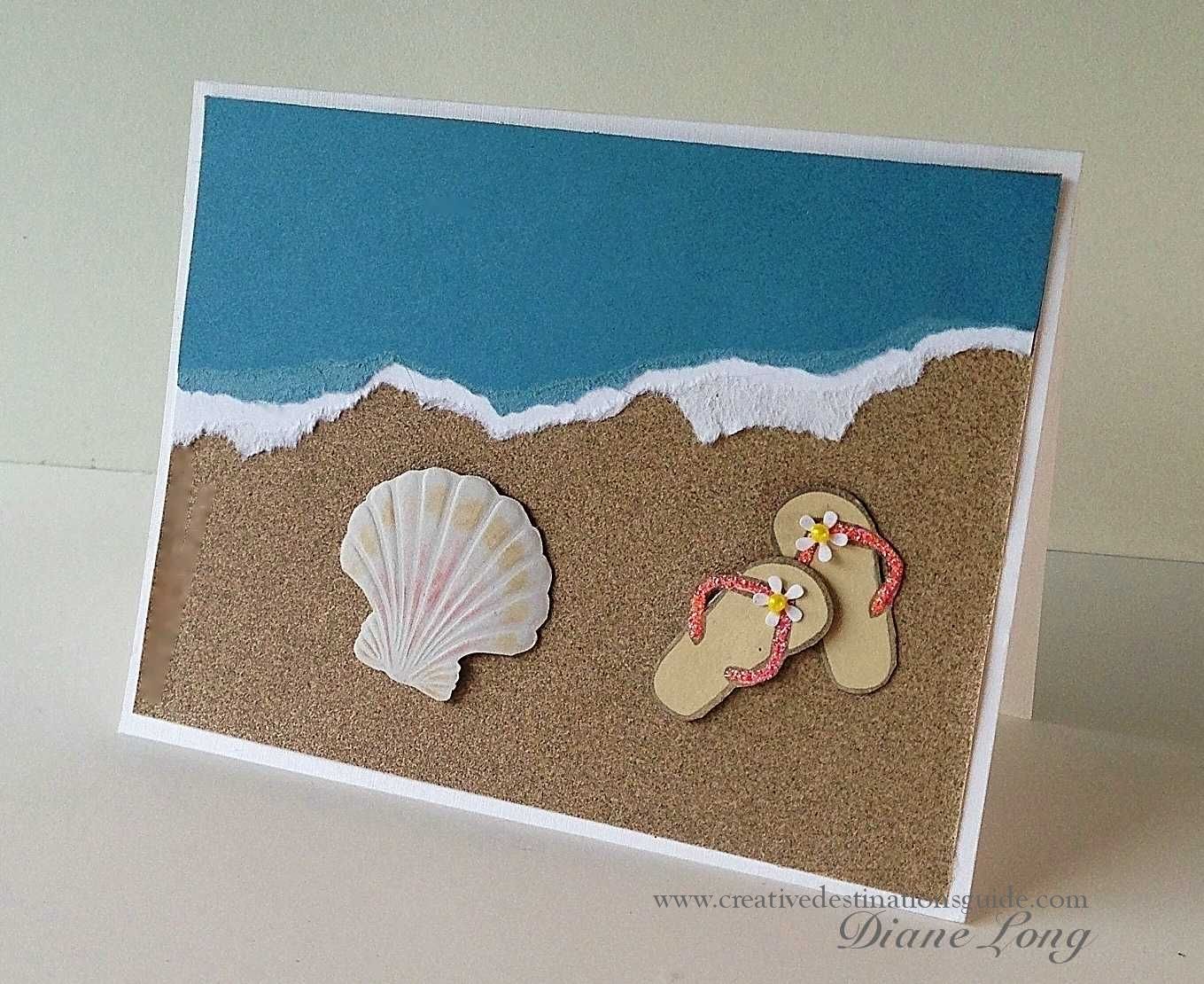 Beach card for Craft supplies for card making