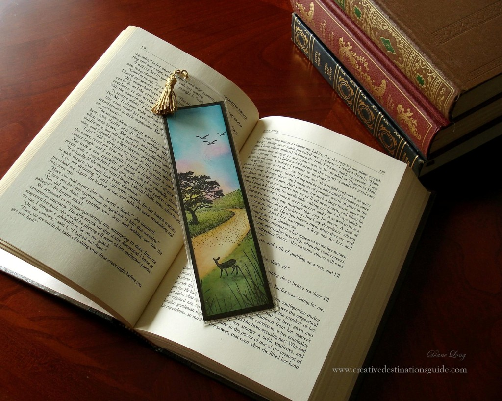 Handmade Stamped Bookmark