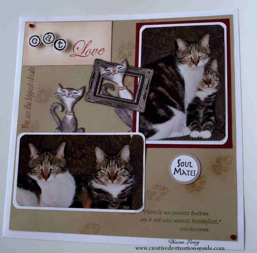 Sisters. Cat scrapbook layout