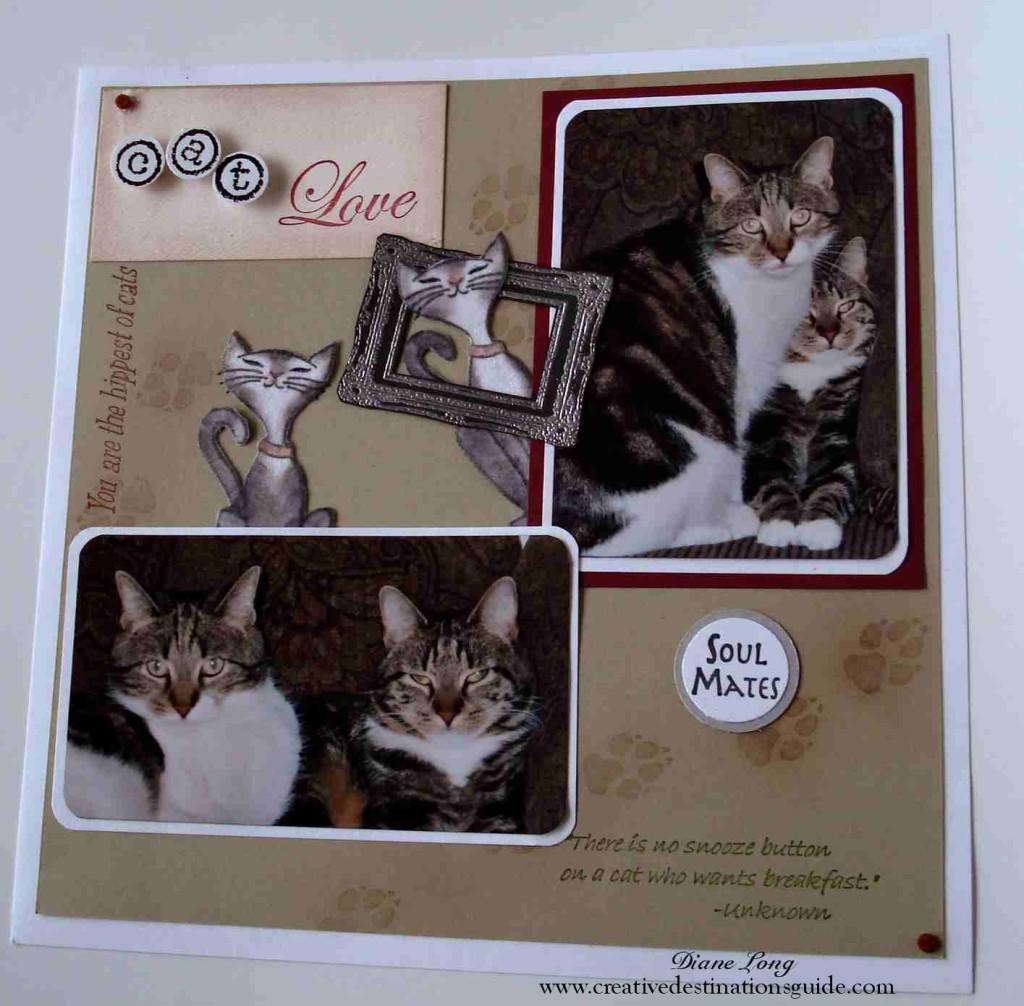 Sisters. Cat scrapbook layout