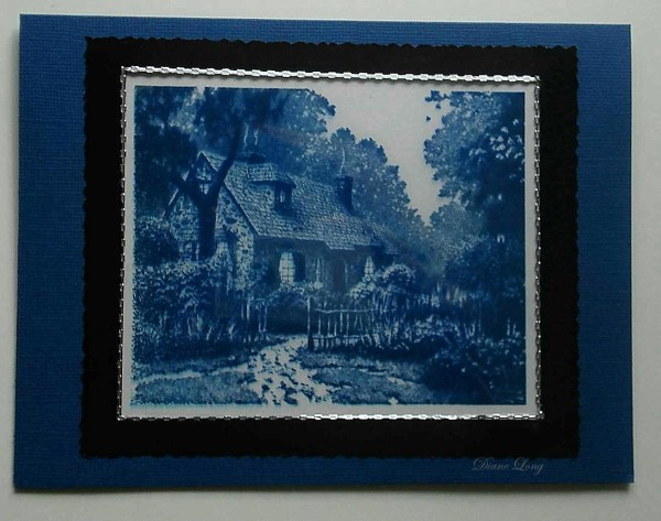 Thomas Kinkade Card Delft Blue