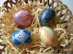 Easter Egg Decorating Ideas using Stamp Ink