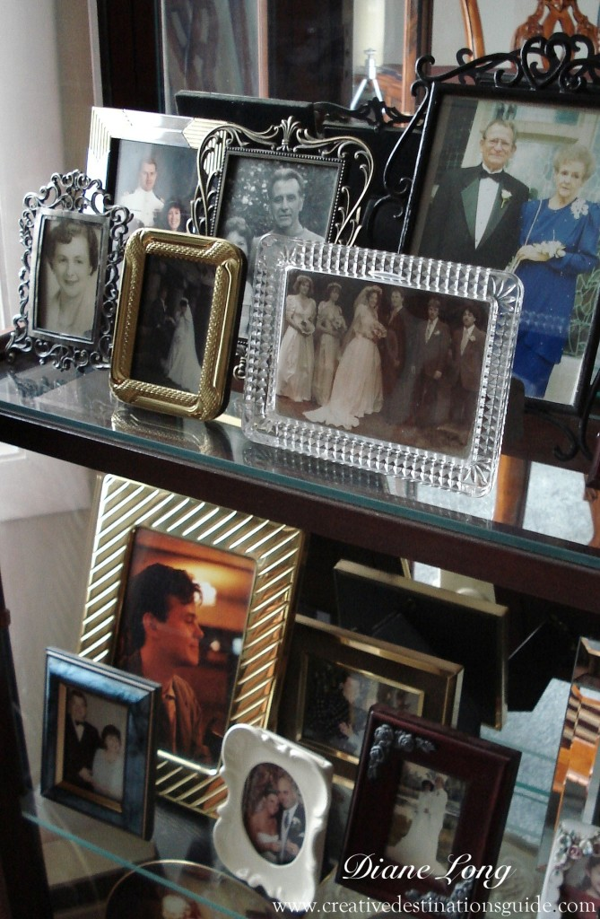 Collection of pictures in frames