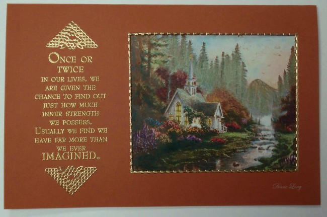 Thomas Kinkade Card with Verse