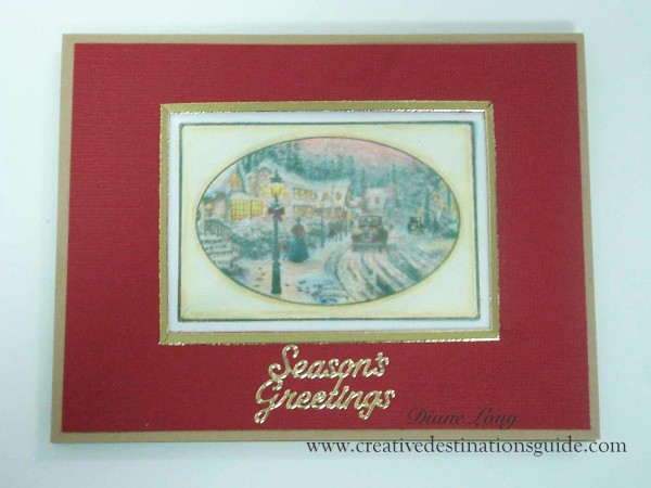 Thomas Kinkade Card, Cornish Heritage Farm stamp