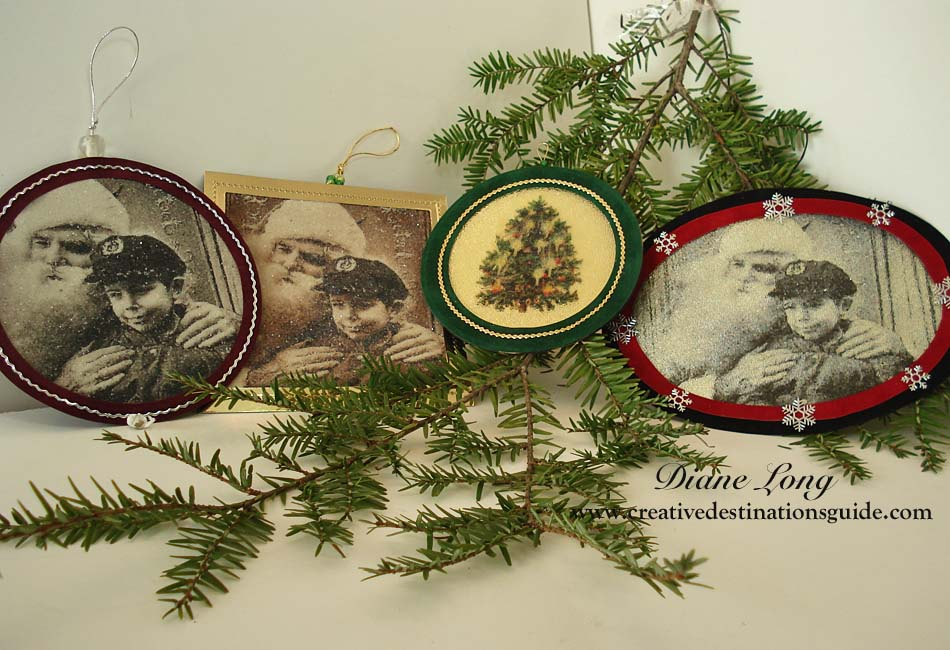 Beaded Photo Ornaments