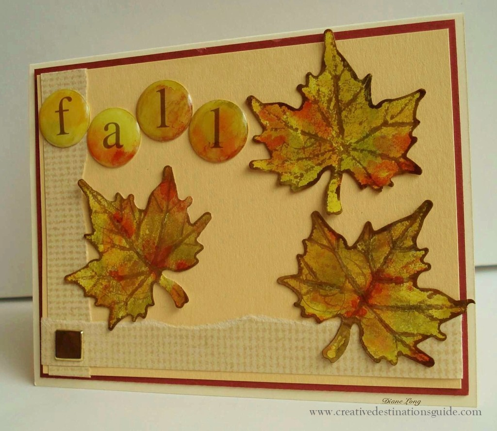 fall leaf card