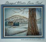 Stamped Winter Scene Card