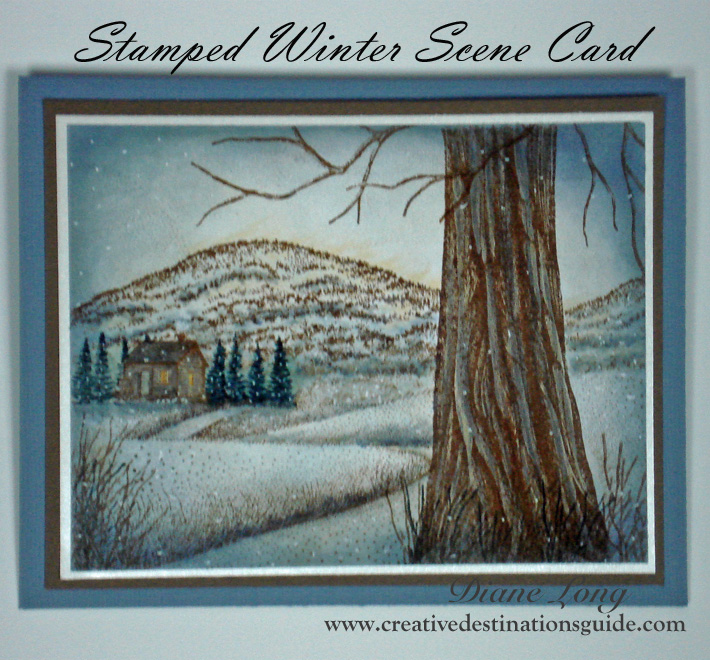 Stamped Winter Scene Card